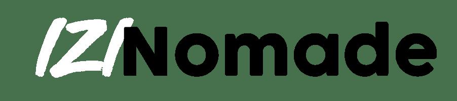 Logo izinomad blanc